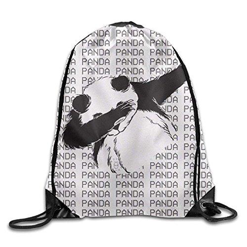 e634b899ae606 Funny Panda Drawstring Bags Portable Backpack Pocket Bag Travel Sport Gym  Bag Yoga Runner Daypack