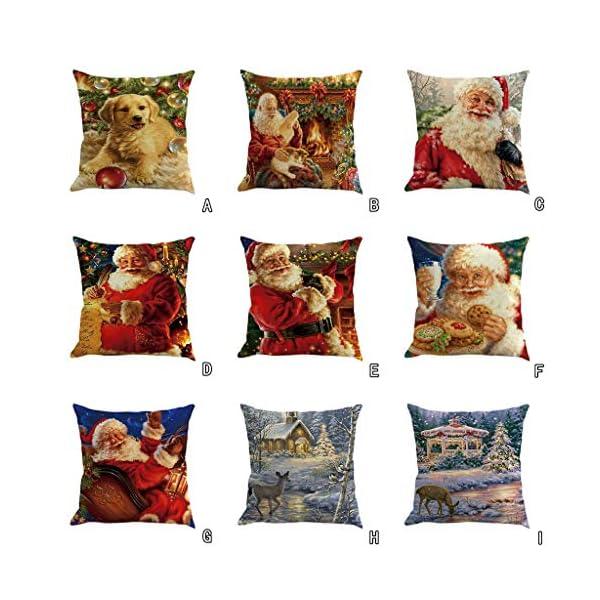 IJKLMNOP Christmas Pillow Square Pillow Case Lino Mat 45x45cm es Adecuado para oficinas, Casas, automóviles, cafeterías… 14