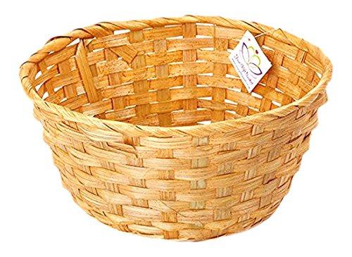 Round Bamboo Gift Basket