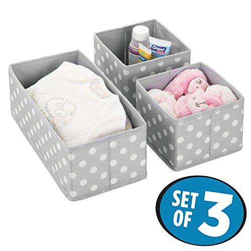 mDesign Juego de 3 Cajas de almacenaje para Habitaciones Infantiles o baños...