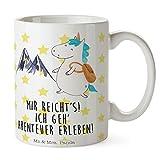 Mr. & Mrs. Panda Tee, Kaffeebecher, Tasse Einhorn Bergsteiger mit Spruch - Farbe Weiß
