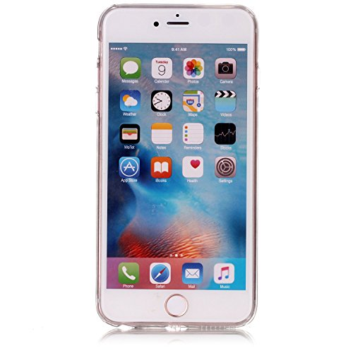 """iPhone 6sPlus Schutzhülle, Neue Marmor CLTPY iPhone 6Plus Schlank Hybrid Handytasche Leichtbau Gummi Abdeckung Luxus Bunt Motiv Back Cover für 5.5"""" Apple iPhone 6Plus/6sPlus (Nicht iPhone 6/6s) + 1 x  Rot A"""
