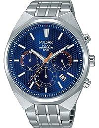 Pulsar Herren-Armbanduhr Solar Analog Edelstahl PZ5007X1