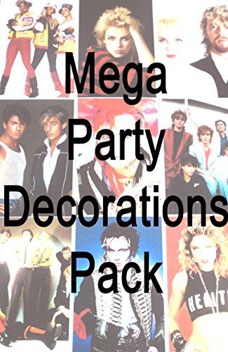 MEGA 80er-Jahre-Stil, Party-Dekoration-Scene Setter, innen und außen, Luftballons, Poster usw. (Positionen Der 90er Jahre)