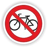 Fahrrad fahren verboten / VER-02 / Sicherheitszeichen / Piktogramme / DIN EN ISO 7010 (20cm)