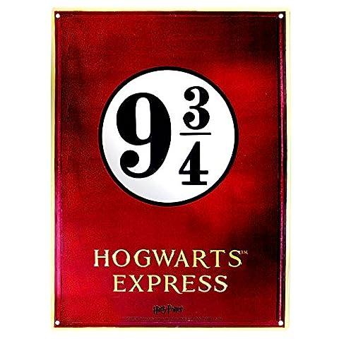 Harry Potter Blechschild 9 3/4 Hogwarts Express, aus Metall 38x28 cm
