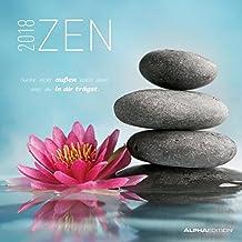Zen 2018 - Broschürenkalender (30 x 60 geöffnet) - mit Weisheiten - Meditationskalender- Wandplaner