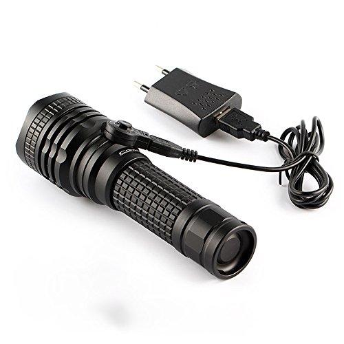 Zmsdt Taschenlampen-LED Taschenlampe Der Taschenlampen-XML2 Weißes Licht-LED-18650, Fackel, Laterne, Kampierendes Licht