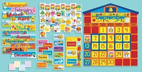 All-In-One Schoolhouse Calendar: School House Calendar (Scholastic Bulletin