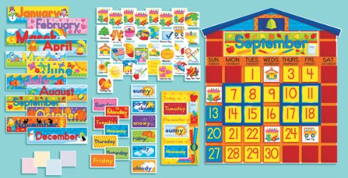 All-in-One Schoolhouse Calendar (Scholastic Bulletin Boards)