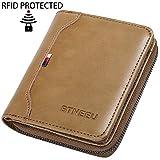 Men Wallet RFID Blocking BTNEEU Bifold Wallet Mens Small Wallet with Coin Pocket