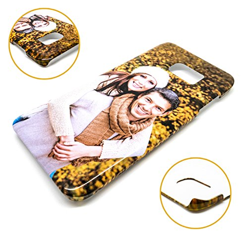 PixiPrints Personalisierte Premium Foto-Handyhülle für Samsung Galaxy-Serie selbst gestalten mit Foto Bedrucken, Kompatibel mit Handy:Samsung Galaxy S7 Edge, Hülle:3D Hülle Matt