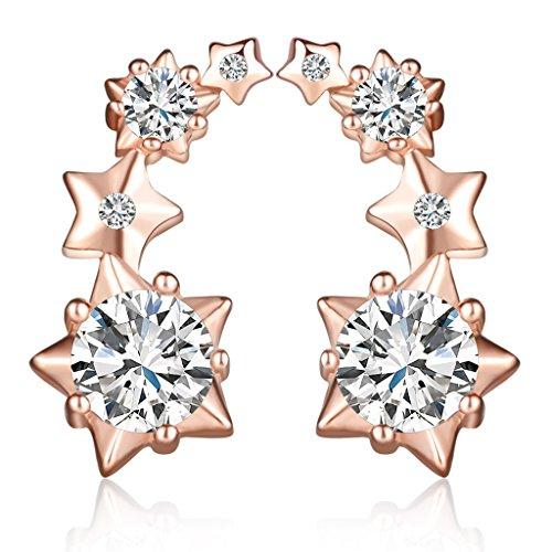 infinite-u-elegante-stelle-studs-orecchini-ear-cuff-in-argento-sterling-925-con-zirconi-per-donne-ra
