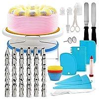 106pcs Multi-function Cake Decorating Kit Cake Turntable Set Pastry Tube Fondant Tool Kitchen Dessert Baking