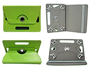 TOTTA Rotator Tab Book Cover For Lava Mobiles IvoryS- GREEN