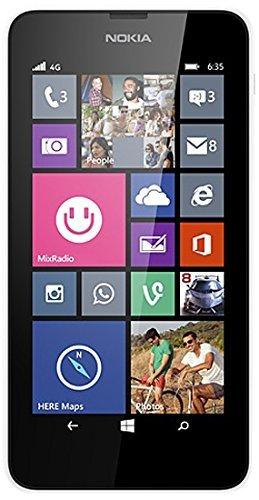 Nokia Lumia 635 - Smartphone, schermo 4.5-inch, Fotocamera 5 MP, 8 GB, quad-core 1.2 GHz, 512 MB RAM)