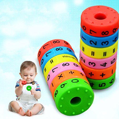 tiyee Bildung Spielzeug Magnetische Mathematik Zahlen Zylinder Lernen Spielzeug Mathematik Spielzeug Bau Engineering für Jungen und Mädchen Alter 3, 4 und 5 und mehr | Kreatives Spaß-Set Kinder