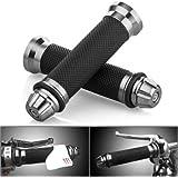 """Universel 7/8"""" 22mm Poignées Guidon Pour Moto Aluminium Hand Grips"""
