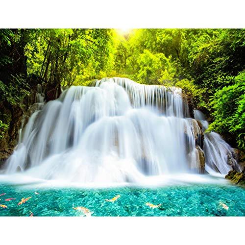 Fototapeten Wasserfall Natur 3D 352 x 250 cm Vlies Wand Tapete Wohnzimmer Schlafzimmer Büro Flur Dekoration Wandbilder XXL Moderne Wanddeko - 100{d603ba9ef938ae82543a3ad5285c1797fe8727d00d712851354e0af48c05a26d} MADE IN GERMANY Runa Tapeten 9006011c