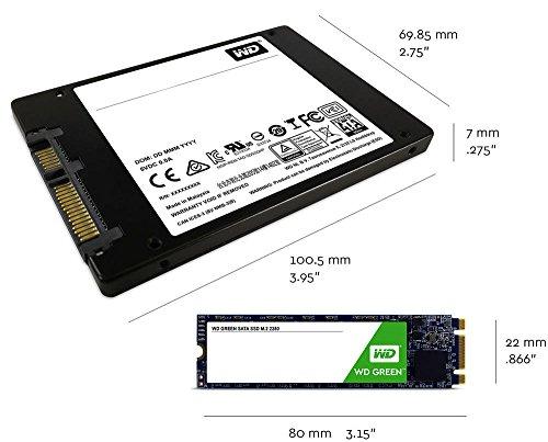 Western Digital WDS240G2G0A 240GB SATA III 6GB/s 2.5 7mm Internal SSD (Green)