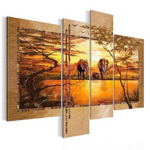 Bilder 120 x 90 cm - Afrika Bild - Vlies Leinwand - Kunstdrucke -Wandbild - XXL Format – mehrere...