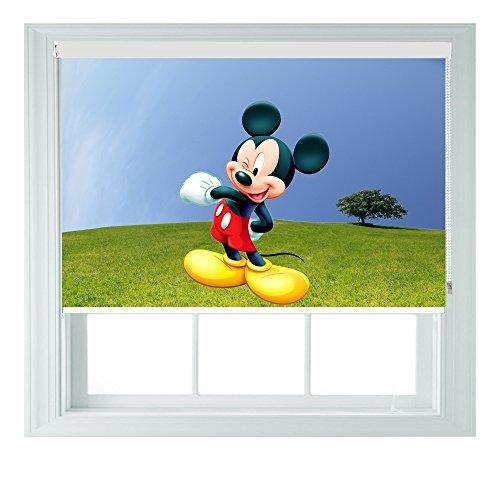 Mickey mouse style varie taglie nero out tende a rullo per camere da letto, bagni e cucine camper aoa®, 4ft/122cm
