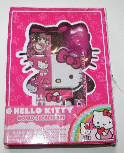 HELLO KITTY - Boxed Secrets - Geschenk Set (Tagebuch mit Schloss, Aufbewahrungsbox, Sticker, Stift..) aus USA
