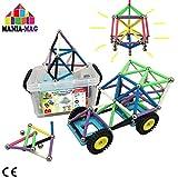 Bloques de construcción magnéticos │ 156 pzs : palos XL con imanes...