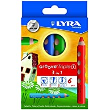 6 color set lira groove triple one watercolor pencil (japan import) by Lyra