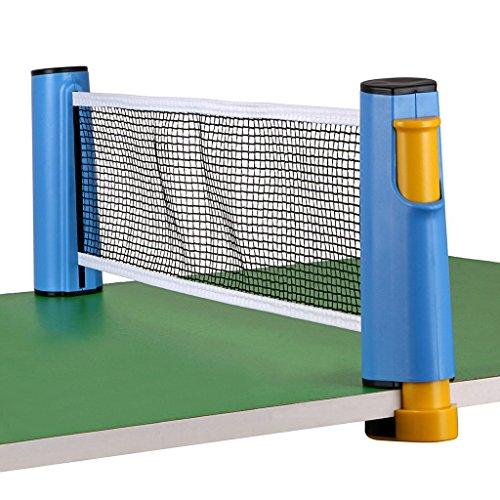 Tragbar Versenkbare Tisch Tennis Net Ersatz, Homeself Tischtennis Net Post Set Accessory, 6 Fuß (1,8 m), passt für Tische bis 5,1 cm (5,0 cm) (Blue)