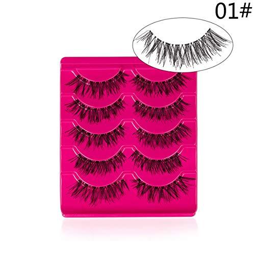False Eyelashes - Faux Cils 3D Naturels Multipack 3D Multipack Extension de Cils Maquillage