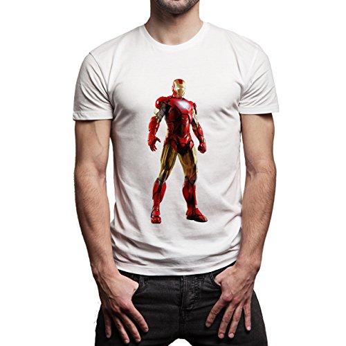 Iron_Man_Render Herren T-Shirt Weiß