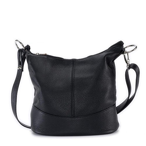 OH MY BAG Sac à main en cuir Beaubourg noir