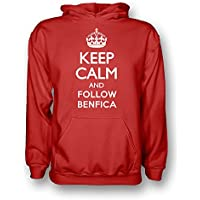 UKSoccershop Keep Calm and Follow Benfica Hoody (Red) - Kids