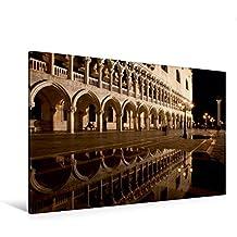 Calvendo Premium Textil-Leinwand 120 cm x 80 cm Quer, Ein Motiv aus Dem Kalender Venedig bei Nacht | Wandbild, Bild auf Keilrahmen, Fertigbild auf Echter Leinwand, Leinwanddruck Orte Orte