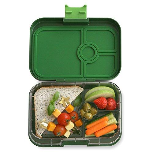 Yumbox Panino M Lunchbox (mit 4 Fächern, Brooklyn Green) - Brotdose mit Unterteilung | Bento Box mit Trennwand Einsatz | Brotbox für Kindergarten Kinder, Schule & Arbeit