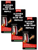 VALUE PACK of 3x 2pk Rentokil Clothes Moth Glue Trap REFILLS (6 Refills Total)