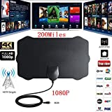 Leoie 200 Mile Indoor HD Digital TV Antenna, Amplifier Signal Booster for 1080P