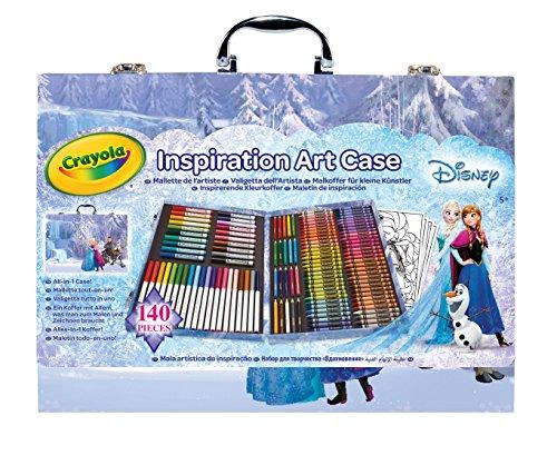 Crayola 04-2539 – Maletín del Artista Frozen 140 Piezas