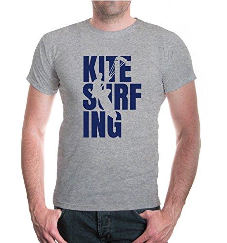 buXsbaum® T-Shirt Kitesurfing Type Heathergrey-Navy