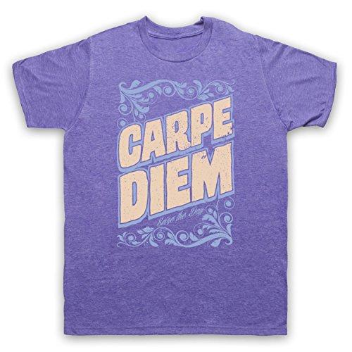 Carpe Diem Seize The Day Herren T-Shirt Jahrgang Violett