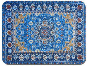 Persian Rug Design Print Mouse Mat. Vintage Carpet Print Quality Mouse Pad #1