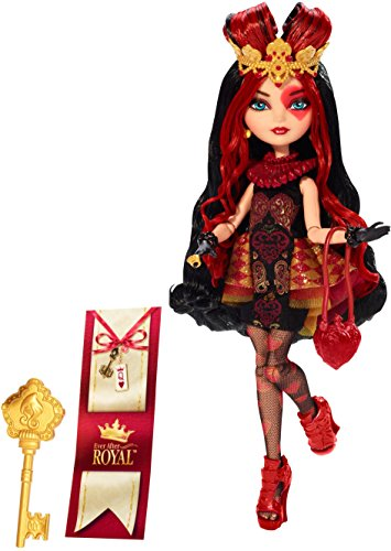 Ever After High - Bjg98 - Poupée Mannequin - Lizzie Hearts - Royals