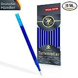 [SPECIAL EDITION] Ersatzminen für radierbare Kugelschreiber - kompatibel zu Pilot Frixion Tintenroller - 100% prall gefüllte Minen, Strichstärke 0,7, edles blau [10 Stück] + Überraschung in jedem Paket