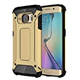 AMPLE Galaxy S6 Edge Case, Rugged Tough Dual Layer Armor Case Samsung Galaxy