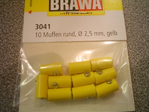 Brawa 3041 10 Muffen rund, gelb