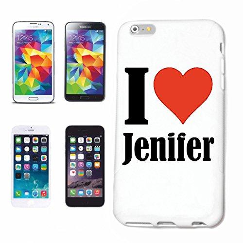 Cas de Téléphone iPhone 6S I Love Jenifer Mince et Belle, Qui est Notre étui. Le Cas est fixé avec Un clic sur Votre Smartphone dans Un étui Rigide Social Design Network avec Hashtag # Cas Co
