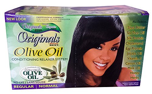 Africa's Best Originals Olive Oil Conditioning Relaxer System for Women, Regular/Normal by Africa's Best