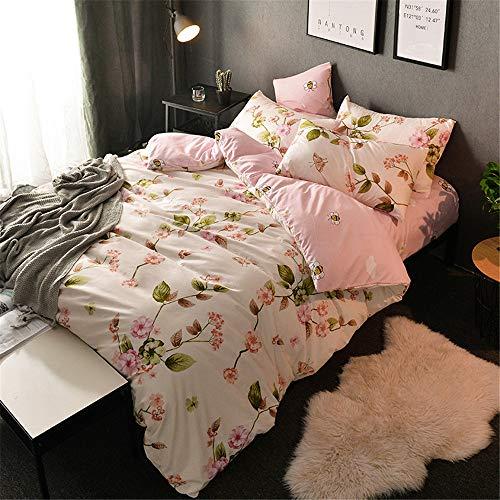 YUNSW Baumwolle Bettbezug Tröster Quilt Decke Fall Reißverschluss Twin Voll Königin König Double Single Size Bettbezug B 220x240cm (Tröster Königin Voll Schwarz)