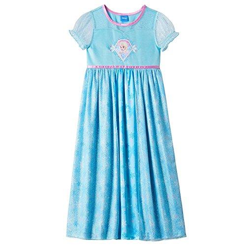 Disney Frozen Girl Dress Up Night Gown Size 8 Blue Multy